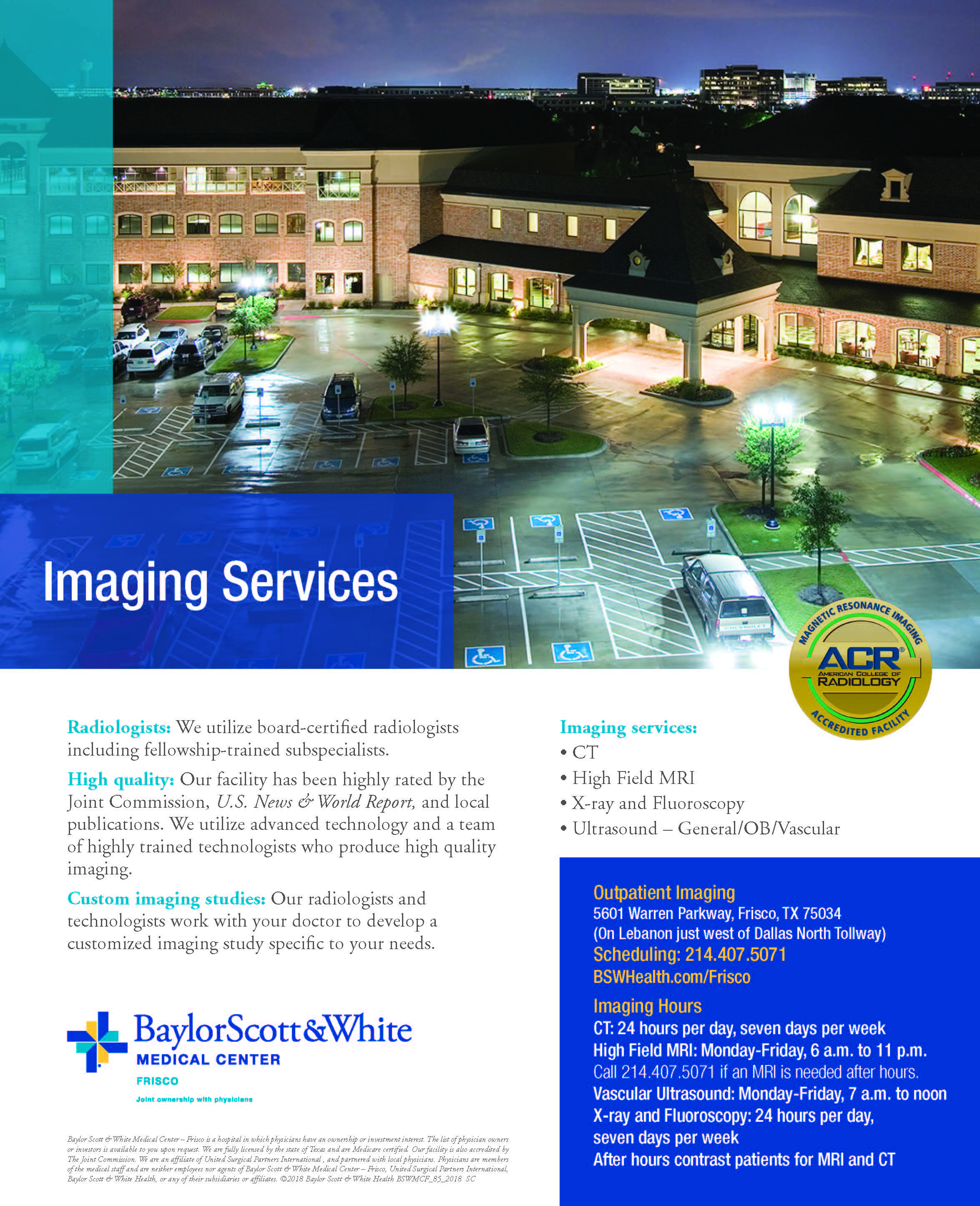 Imaging Services - Baylor Frisco